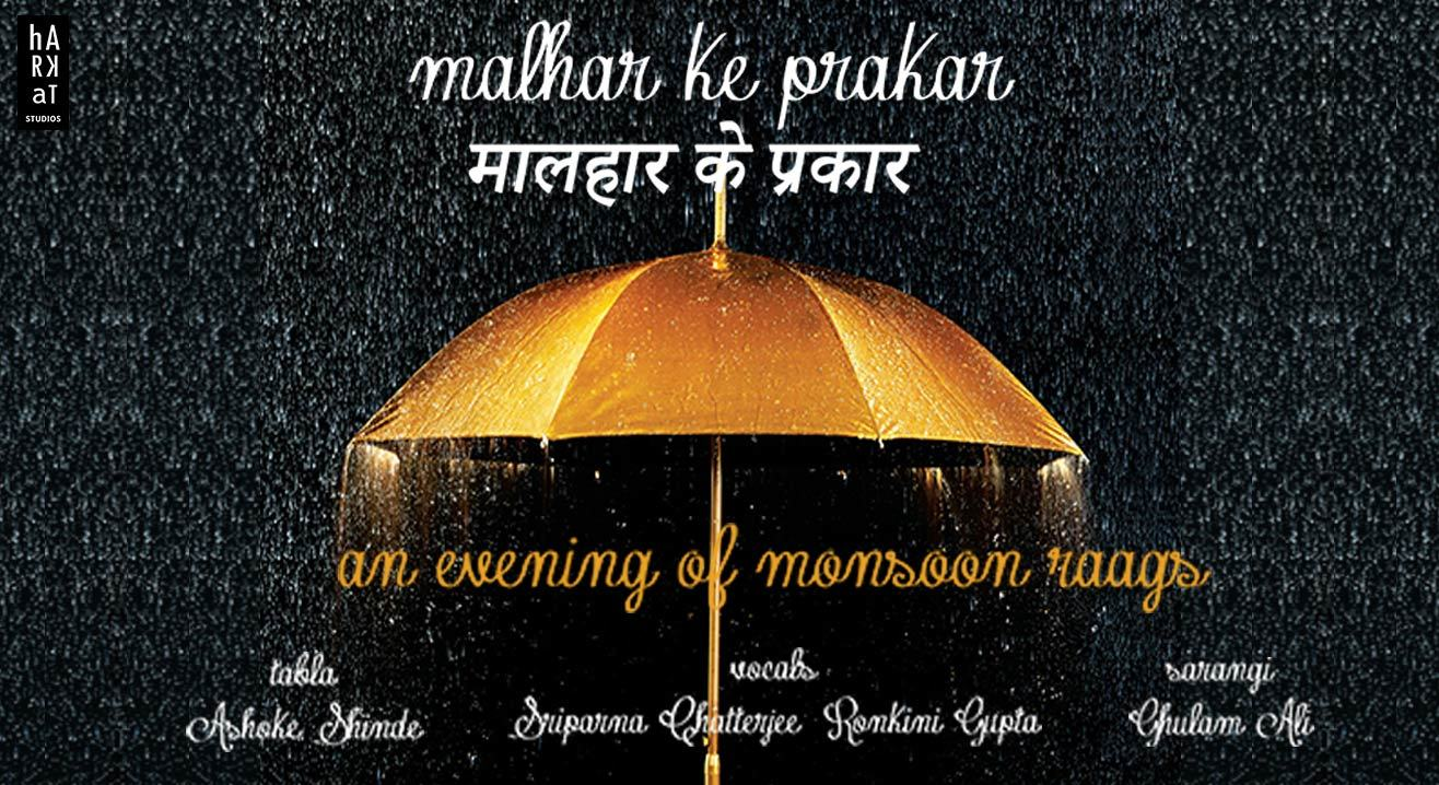 book tickets to malhar ke prakar an evening of monsoon