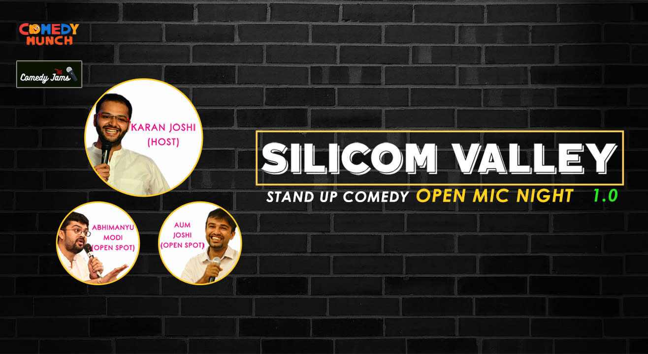 Custom Exhibition Stand Up Comedy : Book tickets to comedy munch silicom valley stand up