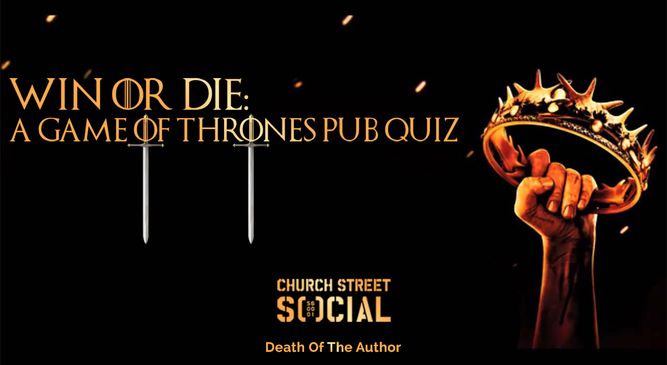 Game of thrones pub quiz team names