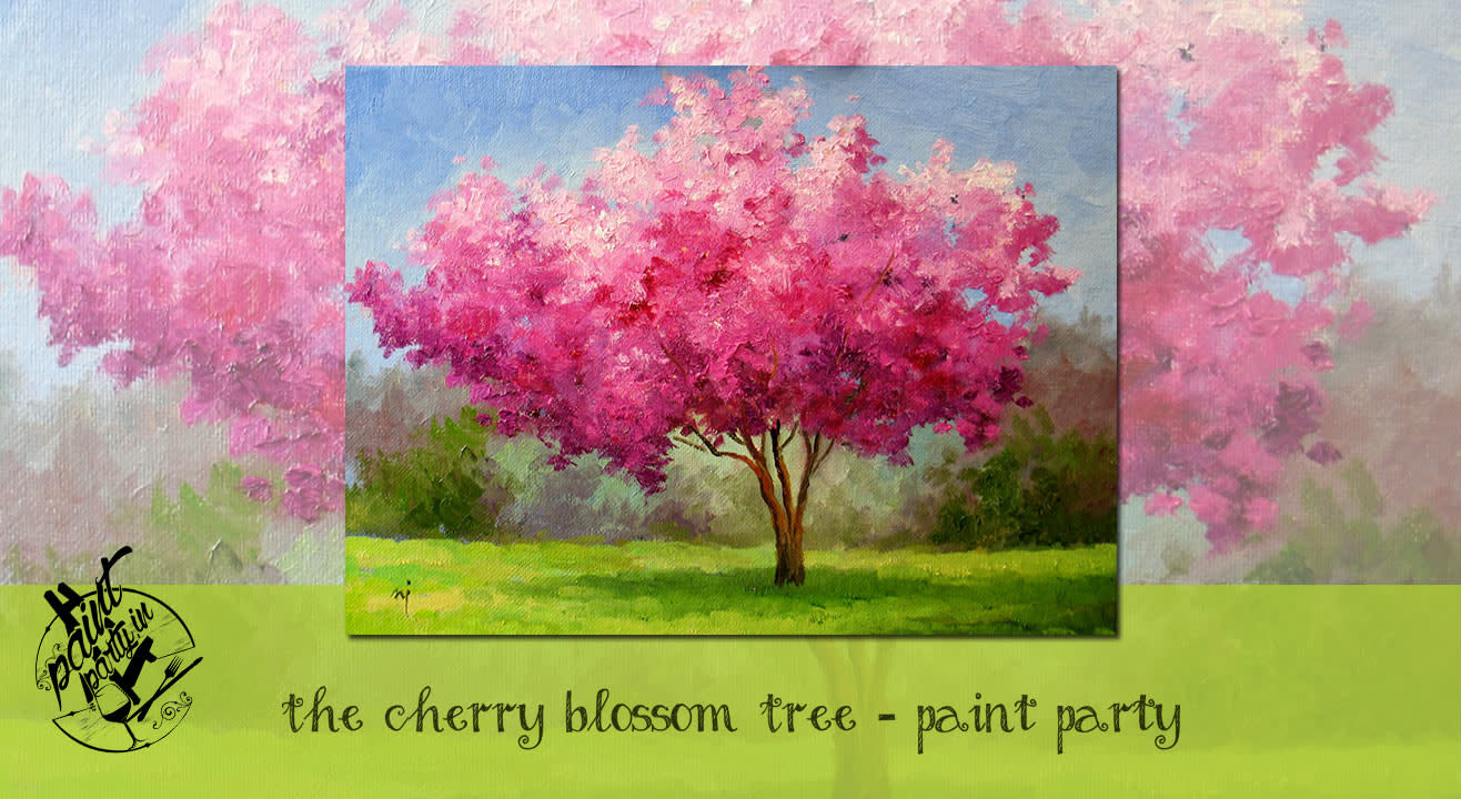Book Tickets To The Cherry Blossom Tree Paint Party
