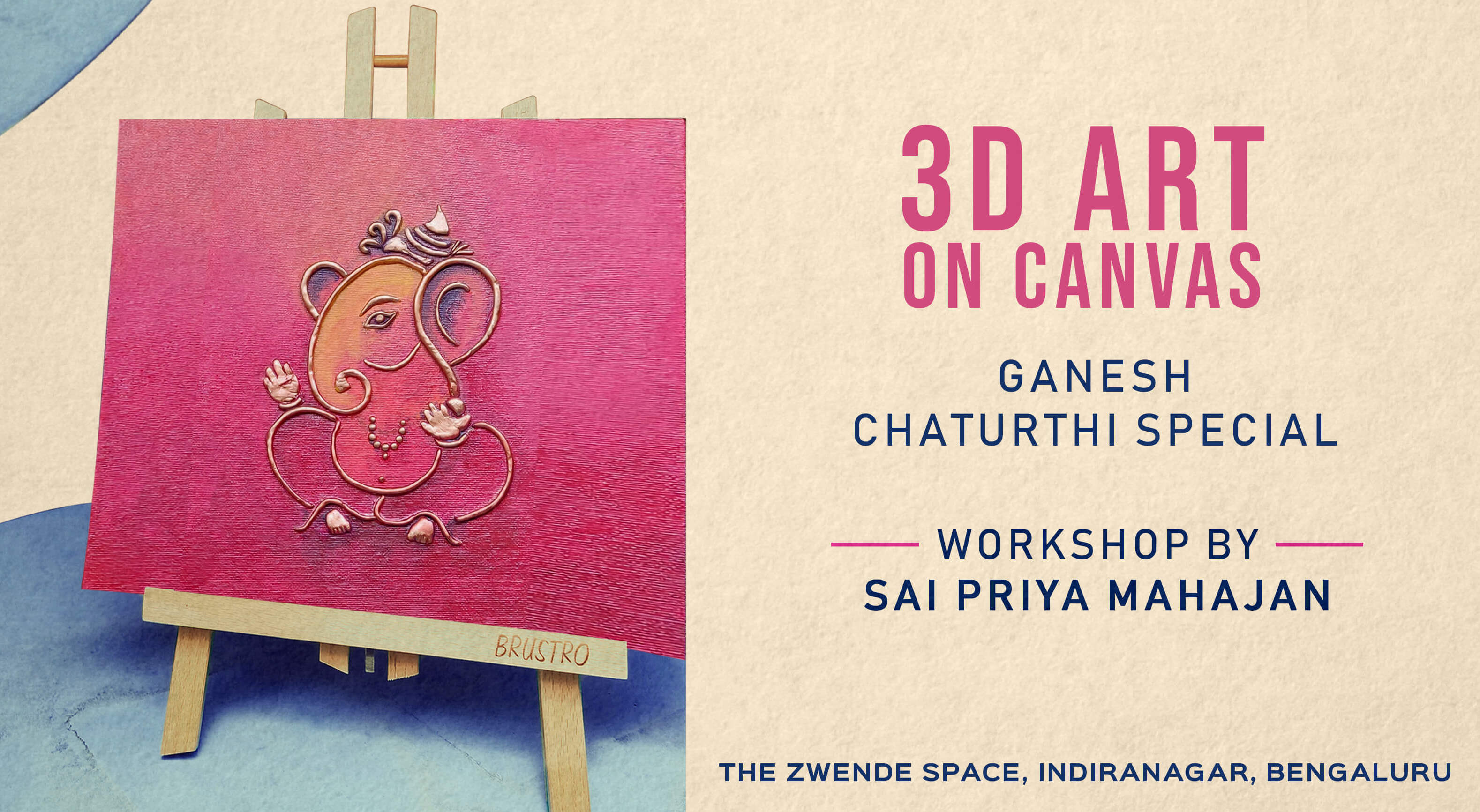 Book 3d Art On Canvas Ganesh Chaturthi (Sep 2019) Event Tickets