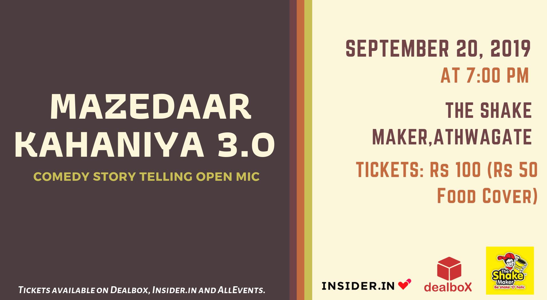 Book Mazedaar Kahaniya 3 0 (Sep 2019) Event Tickets