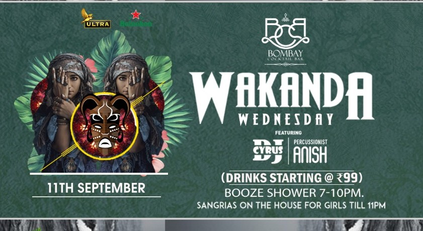Book Wakanda Wednesday Ft Dj Cyrus Percussionist Anish