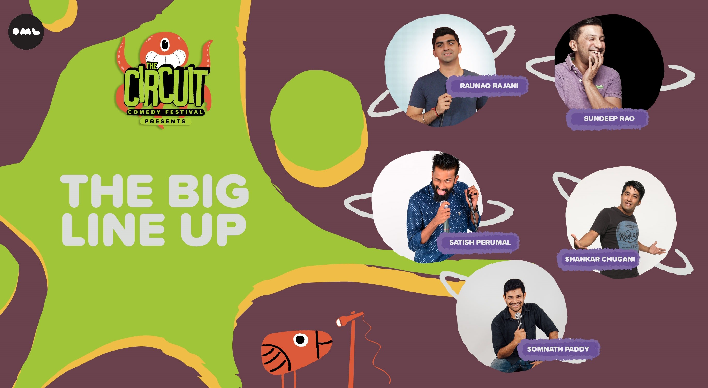 The Big Line-up | The Circuit Comedy Festival, Bengaluru