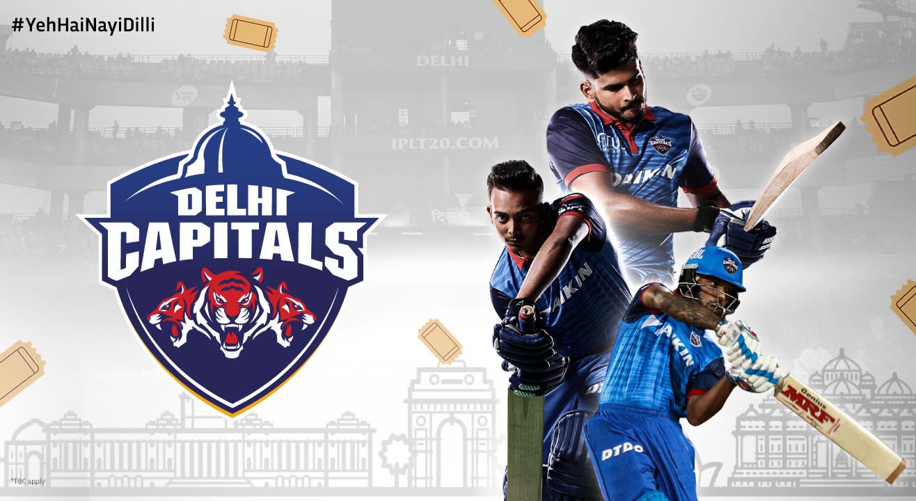 Delhi Capitals (DC) • VIVO IPL 2020 Match Tickets, Team Details & Schedule